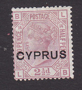 Cyprus, Scott #3, Mint No Gum, Victoria Overprinted, Issued 1880 - Cyprus (...-1960)