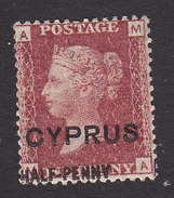 Cyprus, Scott #10, Mint Hinged, Victoria Surcharged, Issued 1881 - Chypre (...-1960)