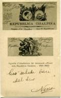 REPUBBLICA CISALPINA  Vignette D'intestazione Dei Documenti Ufficiali Storia Del Risorgimento Italiano  1918 - Patriottisch