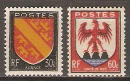 FRANCE   -  1946 .  Y&T N° 756  &  758 **.  Armoiries  /  Blasons. - Frankrijk