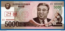 North Korea 5000 Won 2008 UNC SPECIMEN - Korea, North