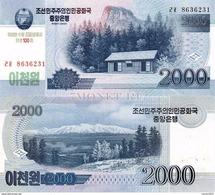 North Korea 2000 Won 2008 UNC - Korea (Nord-)