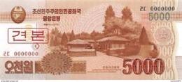 North Korea 5000 Won 2015 UNC SPECIMEN - Corea Del Norte