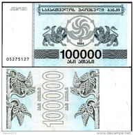 Georgia - 100000 Coupons 1994 UNC - Géorgie