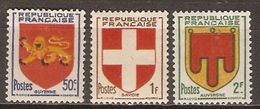 FRANCE   -  1949 .  Y&T N° 835 à 837 **.    Armoiries  /  Blasons. - France