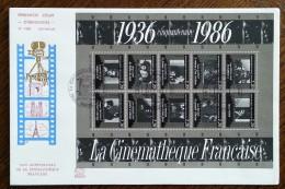 FDC Grand Format 1986 - YT N°BF 9 - La Cinémathèque Française - 1980-1989