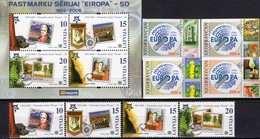 Imperforiert 1956-2006 Aserbaidschan 620/3 B,Latvia 652/5+Block 21 ** 14€ Emblem Zahnrad Bloc S/s Sheet M/s Bf CEPT - Azerbaïdjan