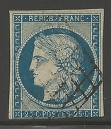 France #6b Usagé  --- Yvert #4b - Parfaite Condition - 1849-1850 Cérès