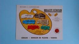 BUVARD PUBLICITAIRE MILLOT-COUSIN CERUSE - MNIUM DE PLOMB - VERNIS - PORT 1,50 EURO - Paints