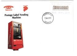 Postage Label Singapore 1991 - Fullerton Building Post Office - Singapore (1959-...)
