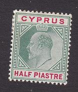 Cyprus, Scott #50, Mint Hinged, Edward VII, Issued 1903 - Cyprus (...-1960)