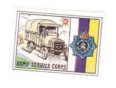Vignette Militaire Delandre - Grande Bretagne - Army Service Corps - Erinnofilia