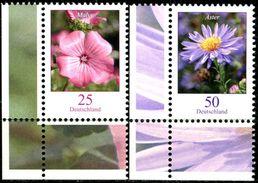BRD - Michel 2462 / 2463 ECKE LIU - ** Postfrisch (A) - 25-50C  Blumen, Bechermalve, Herbstaster - [7] República Federal