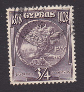 Cyprus, Scott #114, Used, Silver Coin, Issued 1928 - Cyprus (...-1960)