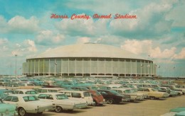 Harris County Domed Stadium Houston Texas, Home Of Baseball Astros & Football Oilers, C1960s/70 Vintage Postcard - Stades