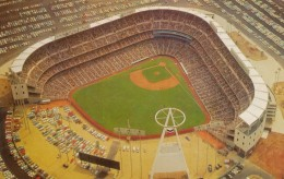 California Angels Baseball Stadium, Anaheim CA View From Air, C1960s Vintage Postcard - Stades