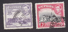 Cyprus, Scott #147A, 147B, Used, Scenes Of Cyprus, Issued 1938 - Cyprus (...-1960)