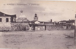 Post Card : Koritza (Albanie) , Vue Principale    Générale     Voyagée 1918 - Albanië