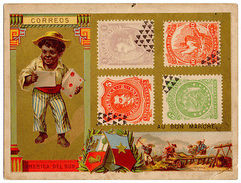 (I.B) France Cinderella : Philatelic Trade Card (Stamps Of South America) - Europe (Other)