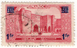 (I.B) French Morocco Postal : Pictorial 1Fr On 1.40Fr OP - Morocco (1956-...)