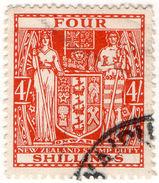 (I.B) New Zealand Revenue : Stamp Duty 4/- (postal) - New Zealand