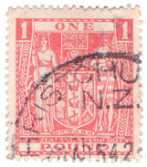 (I.B) New Zealand Revenue : Stamp Duty £1 (postal) - New Zealand