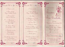 Carte De Auberge Le Parador De DON QUICHOTTE A BIEVRE 5 Menus 2 Lunchet 1 Buffet De Campagne Avec Prix_Voir Scan Details - Menus