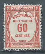 France Timbres-taxe YT N°58 Recouvrements Oblitéré ° - 1859-1955 Neufs