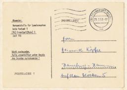 Deutsche Bundespost, Postsache 1959, Postkarte Aus Frankfurt. - BRD