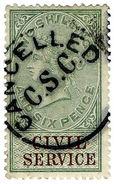 (I.B) QV Revenue : Civil Service 2/6d (1881) - 1840-1901 (Victoria)