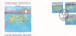 Cocos (Keeling) Islands 1990 Christmas FDC - Cocos (Keeling) Islands