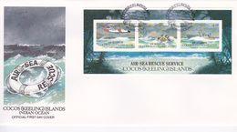 Cocos (Keeling) Islands 1993 Air Sea Rescue Miniature Sheet FDC - Cocos (Keeling) Islands