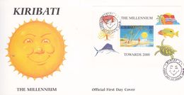 Kiribati 1998 Towards 2000, Miniature Sheet FDC - Kiribati (1979-...)