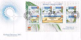 Kiribati 2003 Christmas Miniature Sheet FDC - Kiribati (1979-...)