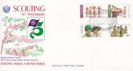 Nauru 1982 75th Anniversary Of Scouting Souvenir Cover - Nauru