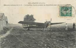 "CPA FRANCE 78 ""Buc, Le Monoplan Militaire REP, Le Capitaine Camine"" / AVIATION - Buc"