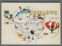 S4689 ZIMBAWE MAPPA VG Annullo Gruppo Radio Italia Alfa Tango - Zimbabwe