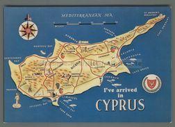 S4695 CYPRUS MAP CIPRO MAPPA - Cipro