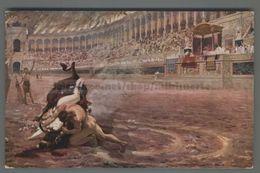 U9871 Arte JAN STYKA URSUS VICTORIOUS OF AUROCHES ARENA CORRIDA FP (m) - Corrida