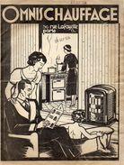 DOCUMENT COMMERCIAL OMNIS CHAUFFAGE *Cuisinières LACO *Chauffage BRIFFAULT *Appareils à  Récupérateurs CINEY 1934 - Petits Métiers
