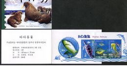 BT195 North Korea 2013 Sea Animal (shark, Turtle, Pepper Bonito, Sea Horse) - Korea, North