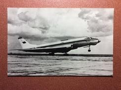 Vintage Russian Photo Postcard 1986 Soviet Aviation. Tu-124 - Passenger Jet Aircraft (1960) - 1946-....: Moderne