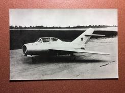 Vintage Russian Photo Postcard 1986 Soviet Aviation. MiG-15-UTI - Jet Trainer Aircraft (1950) - 1946-....: Moderne