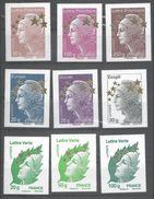 FRANCE YVERT N°4662A/Q NEUF MNH** - Année 2012 MARIANNE DE BEAUJARD.ETOILES D'OR.15 VALEURS - 1960-.... Postfris