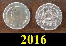 Thailand Coin Circulation 5 Baht Year 2016 UNC - Thailand