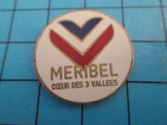 Pin513f Pin's Pins / Rare Et De Belle Qualité !! VILLES/ MERIBEL COEUR DES 3 VALLEES STATION SPORTS D'HIVER - Cities