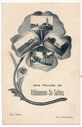 CPA - VILLEUNEUVE ST SALVES (Yonne) - Une Pensée De... - Other Municipalities