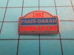 Pin513f Pin's Pins / Rare Et De Belle Qualité !! AUTOMOBILES / 1992 RALLYE PARIS DAKAR PARIS LE CAP - Rallye