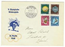 Suisse // Schweiz // Switzerland //  Lettre Pour Zurich , Jeux Olympiques St.Moritz 1948 - Winter 1948: St-Moritz
