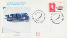 Enveloppe  1er  Jour   JEUX  OLYMPIQUES  D'  HIVER    MACOT - LA  PLAGNE    1992 - Invierno 1992: Albertville